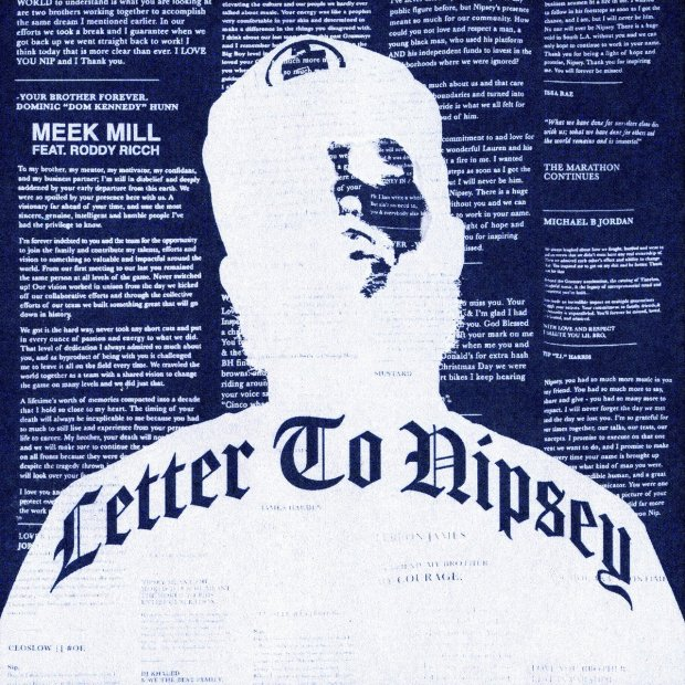 Meek Mill Ft. Roddy Ricch – Letter to Nipsey
